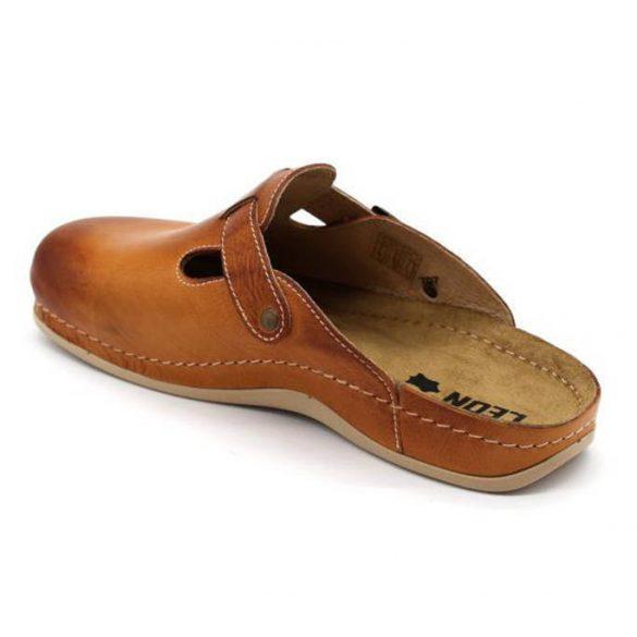 Leon Comfort férfi papucs-707 barna